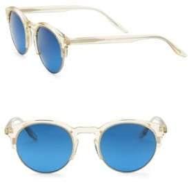 Barton Perreira Griffin 49MM Clubmaster Sunglasses