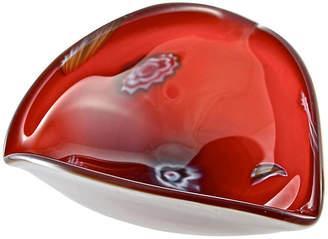 One Kings Lane Vintage Red Millefiori Art Glass Bowl