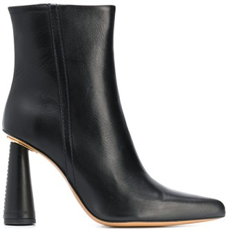 Jacquemus cone heel ankle boots