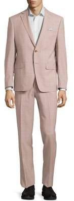 Tallia Orange Mason Slim-Fit Plaid Wool Suit