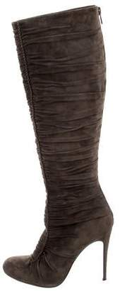Christian Louboutin Ruched Knee-High Boots