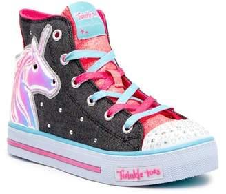 Skechers Shuffles - Prancing Pretty Hi-Top Sneakers (Little Kid)