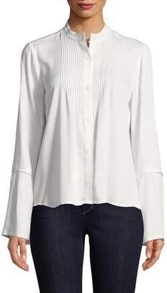 10 CROSBY DENIM Women's Bell Sleeve Pintuck Shirt