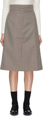 Shushu/Tong Two-in-one layered houndstooth skirt