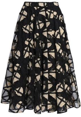 Co Embroidered Organza Midi Skirt