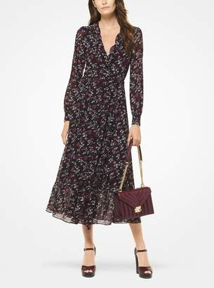 MICHAEL Michael Kors Botanical Georgette Wrap Dress