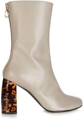 Stella McCartney Tortoiseshell block-heel faux-leather boots