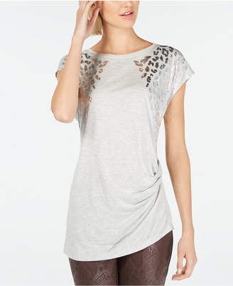 INC International Concepts I.n.c. Foil Animal-Print T-Shirt