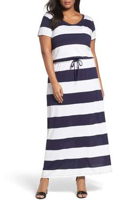 Caslon Knit Drawstring Waist Maxi Dress