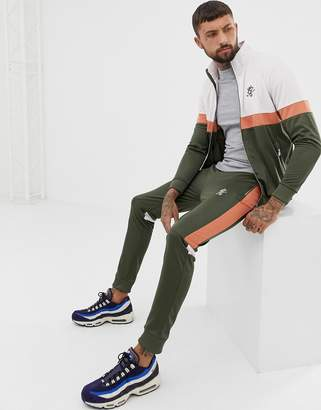 Gym King retro skinny sweatpants in khaki