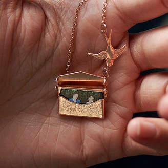 fac7e287031e68 Maria Allen Boutique Personalised Photo Envelope Necklace With Bird
