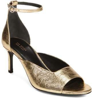 Via Spiga Women s Jennie Metallic Kitten Heel Sandals