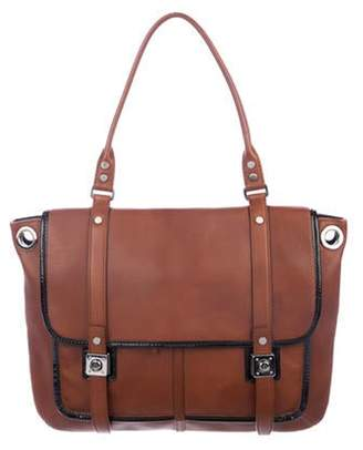Lanvin Grained Calf Odeon Satchel silver Grained Calf Odeon Satchel
