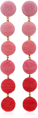Rebecca de Ravenel Six Drop Ombre Earrings $345 thestylecure.com