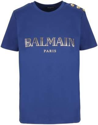 Balmain Shoulder Embellished T-shirt