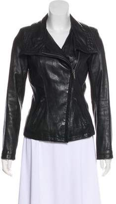 MICHAEL Michael Kors Long Sleeve Leather Jacket