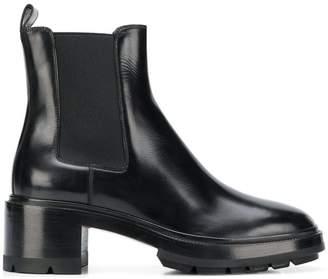Santoni block heel ankle boots
