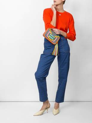 J.W.Anderson Grid printed denim trouser
