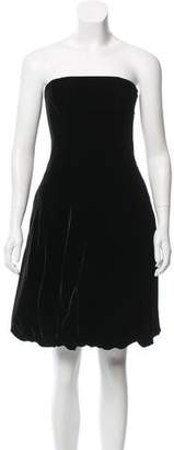 Ralph Lauren Black Label Strapless Velvet Dress
