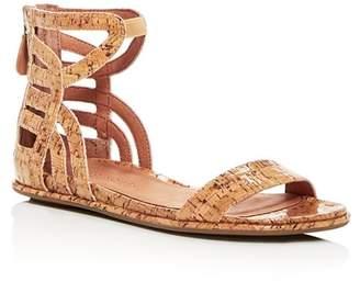 Kenneth Cole Gentle Souls by Gentle Souls Women's Larisa Glossy Cork Ankle Strap Demi Wedge Sandals