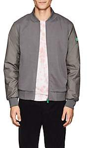 Save The Duck SAVE THE DUCK MEN'S JERSEY-FRONT BOMBER JACKET-GRAY SIZE M