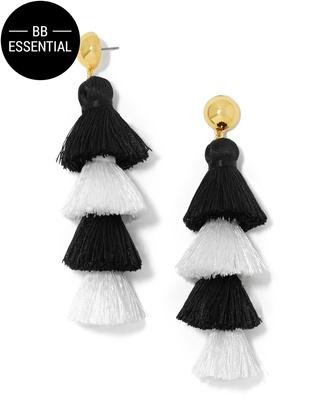 Gabriela Stud Fringe Drops $48 thestylecure.com