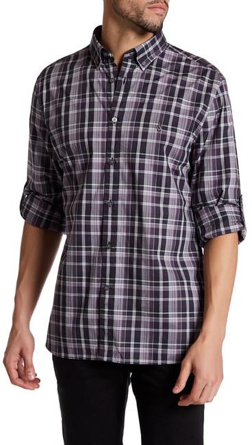 Star USA By John Varvatos Peace Plaid Trim Fit Shirt
