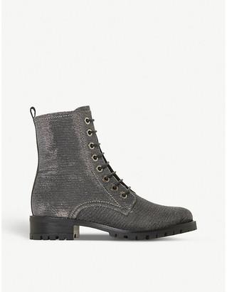 Dune Prestone metallic boots