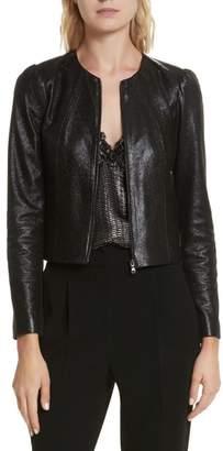 Rebecca Taylor Metallic Leather Jacket