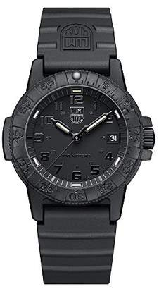 Luminox Leatherback Sea Turtle 0300 series Watch with carbon compound Case Black|Black Dial and PU Black Strap XS.0301.BO