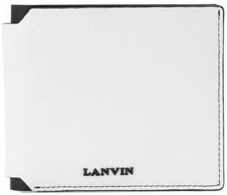 Lanvin logo plaque bifold wallet