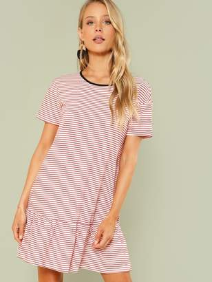 Shein Striped Drop Waist Ringer Dress