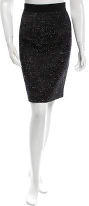 Giambattista Valli Wool & Silk-Blend Knee-Length Skirt