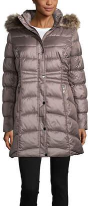 Liz Claiborne Woven Water Resistant Heavyweight Puffer Jacket