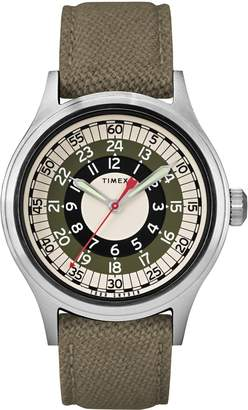 Todd Snyder Timex(R) x The Mod Fabric Strap Watch, 40mm