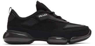 Prada Black Sport Wedge Sneakers