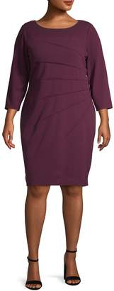 Calvin Klein Long Sleeve Starburst Sheath Dress