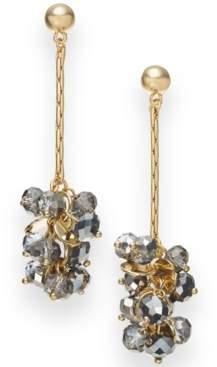 INC International Concepts I.n.c. Gold-Tone & Hematite-Tone Bead Linear Drop Earrings, Created for Macy's