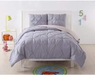 Laura Hart Kids Pleated Lavender Twin XL Comforter Set