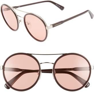 85f8491680 Longchamp Le Pliage 55mm Round Sunglasses