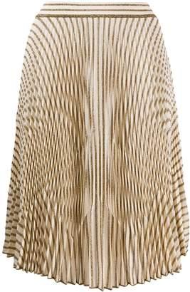Missoni glitter stripe pleated skirt