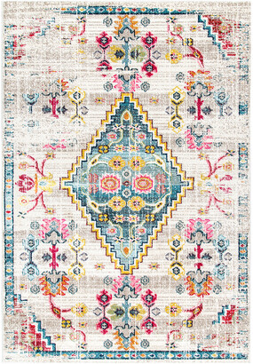 nuLoom Fading Floral Gabbeh Leahy Machine-Made Synthetic Southwestern Rug