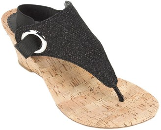 White Mountain Wedge Thong Sandals - Aida
