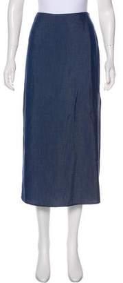 Crippen Chambray Midi Skirt