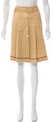 Prada Silk Pleated Skirt