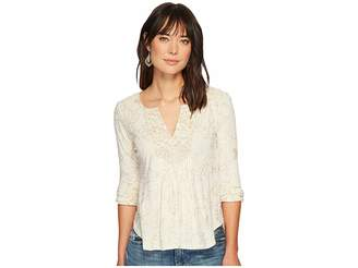 Lucky Brand Foil Printed Top