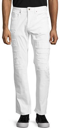Buffalo David Bitton Buffalo David Bitton Evan-X Distressed Straight-Leg Jeans