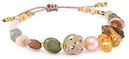 Chan Luu Women's 18K Goldplated 8-10MM Pearl & Multi-Stone Bracelet