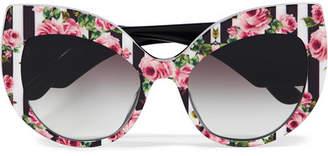Dolce & Gabbana Printed Cat-eye Acetate Sunglasses