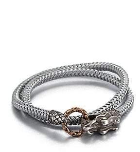 John Hardy Men's Braided Wrap Sterling Silver Bracelet